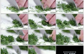 高清实拍视频素材丨用小刀切蔬菜