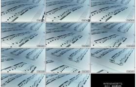 4K实拍视频素材丨移摄音乐五线谱