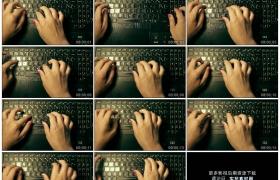 4K实拍视频素材丨主观视角拍摄女子双手敲击笔记本电脑键盘