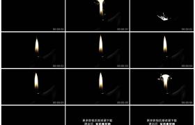 高清实拍视频素材丨在黑暗中打燃打火机亮起火苗