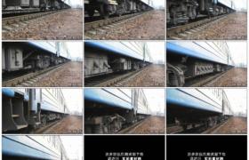 4K实拍视频素材丨火车行驶在新铺的铁路轨道上