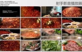 [高清实拍素材]火锅下料及菜品