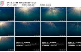 高清实拍视频丨水下摄影 仰拍阳光从海面投射下来