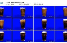 高清实拍视频丨蓝屏前往玻璃杯倒啤酒