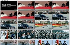 [高清实拍素材]胡锦涛阅兵