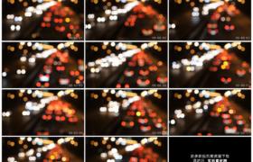 高清实拍视频素材丨夜晚城市道路上明亮的车流灯光散景延时摄影
