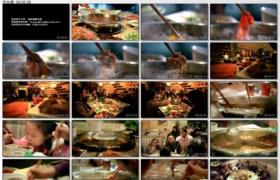 [高清实拍素材]吃火锅
