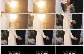 高清实拍视频素材丨温暖的阳光逆光下一对恋人双手相拉