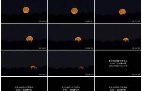 高清实拍视频素材丨一轮圆圆的月亮从夜空中慢慢落下