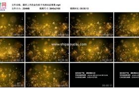4K动态视频素材丨漂浮上升的金色粒子光斑动态背景