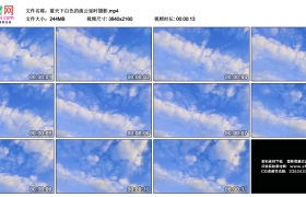 4K视频素材丨蓝天下白色的流云延时摄影