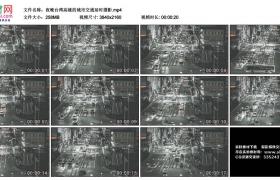 4K视频素材丨夜晚台湾高雄的城市交通延时摄影
