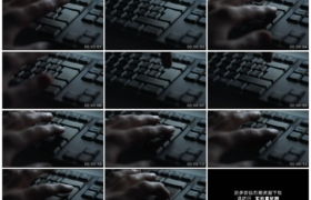 4K实拍视频素材丨特写手指按下电脑键盘上的输入键