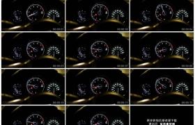 高清实拍视频素材丨特写加速时汽车仪表板上指针转动