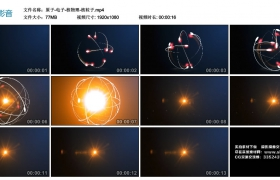 高清动态视频丨原子-电子-核物理-核粒子
