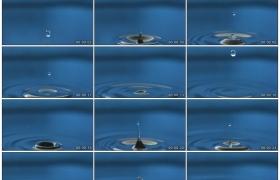高清实拍视频素材丨水滴落下在水面上溅起水花