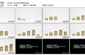 高清实拍视频素材丨金色的金币持续增长