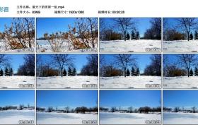 【高清实拍素材】蓝天下的雪原一组