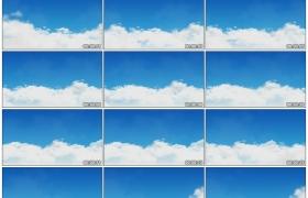 高清实拍视频素材丨蓝天上厚厚的白云飘动延时摄影