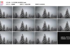 高清实拍视频素材丨冬天雪花飘飞落到树林里