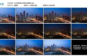 高清实拍视频丨北京CBD城市夜景延时摄影