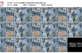 4K视频素材丨从台北101大厦俯瞰台北的城市建筑及交通延时摄影