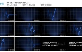 高清动态视频丨心脏心电图心率图脉冲