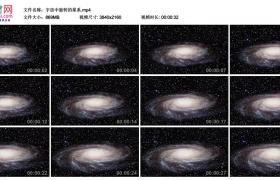 4K实拍视频素材丨宇宙中旋转的星系