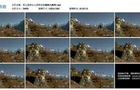 高清实拍视频丨雪山前神山上的彩色经幡随风飘拂