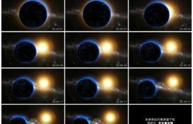 高清动态视频素材丨太空银河系中的地球和太阳