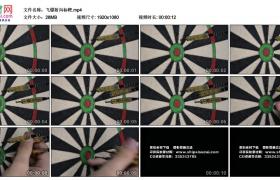 高清实拍视频素材丨飞镖射向标靶