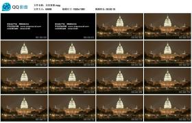 [高清实拍素材]白宫夜景