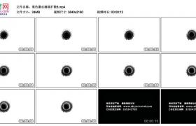 4K实拍视频素材丨黑色墨水滴落扩散6