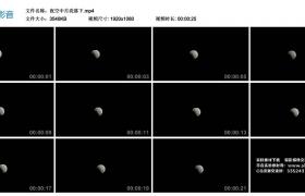高清实拍视频丨夜空中月亮落下