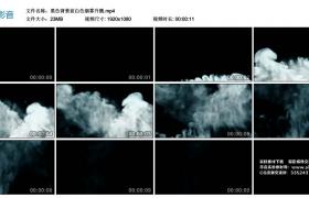 高清实拍视频丨黑色背景前白色烟雾升腾