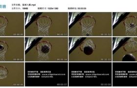 【高清实拍素材】篮球入框(特写慢镜)