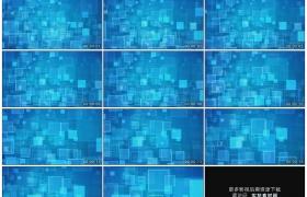高清动态视频素材丨不断靠近的方块图形蓝色动态背景