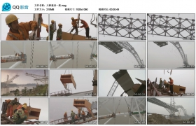 [高清实拍素材]大桥建设一组