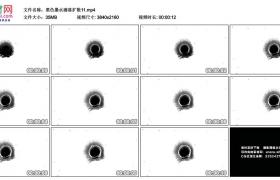 4K实拍视频素材丨黑色墨水滴落扩散11