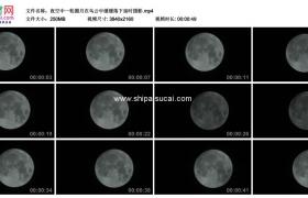 4K实拍视频素材丨夜空中一轮圆月在乌云中缓缓落下延时摄影