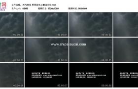 高清实拍视频素材丨天气变化 厚厚的乌云飘过天空