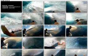[高清实拍素材]冲浪一组