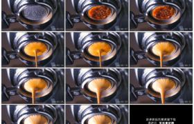 高清实拍视频素材丨仰拍浓浓的咖啡从咖啡机流下