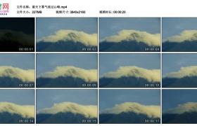 4K视频素材丨蓝天下雾气流过山峰延时摄影