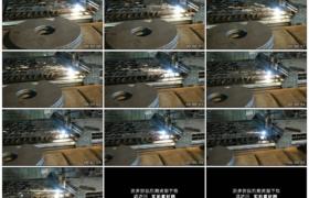 高清实拍视频素材丨工厂车间里激光切割金属