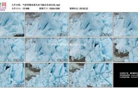 高清实拍视频素材丨气候变暖淡蓝色冰川融化形成水流