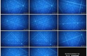 高清动态视频素材丨蓝色网格空间动态背景