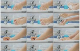 高清实拍视频素材丨特写用洗手液洗手消毒