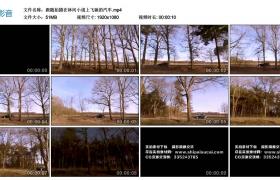 高清实拍视频丨跟随拍摄在林间小道上飞驰的汽车