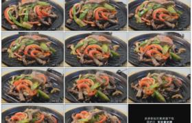 高清实拍视频素材丨冒着热气的铁板烧牛肉